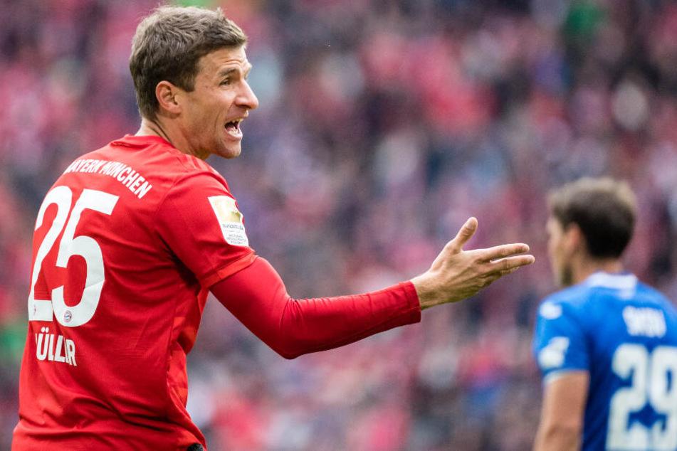 Thomas Müller dürfte beim FC Bayern München aktuell nicht zufrieden sein.