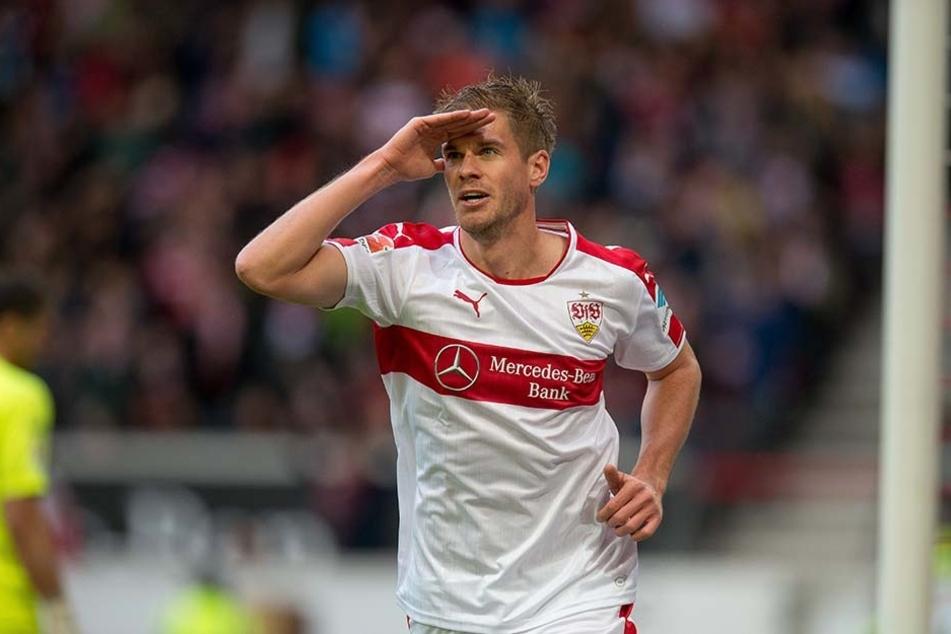 Simon Terodde erzielte in der 13. Minute für den VfB Stuttgart das 1:0.