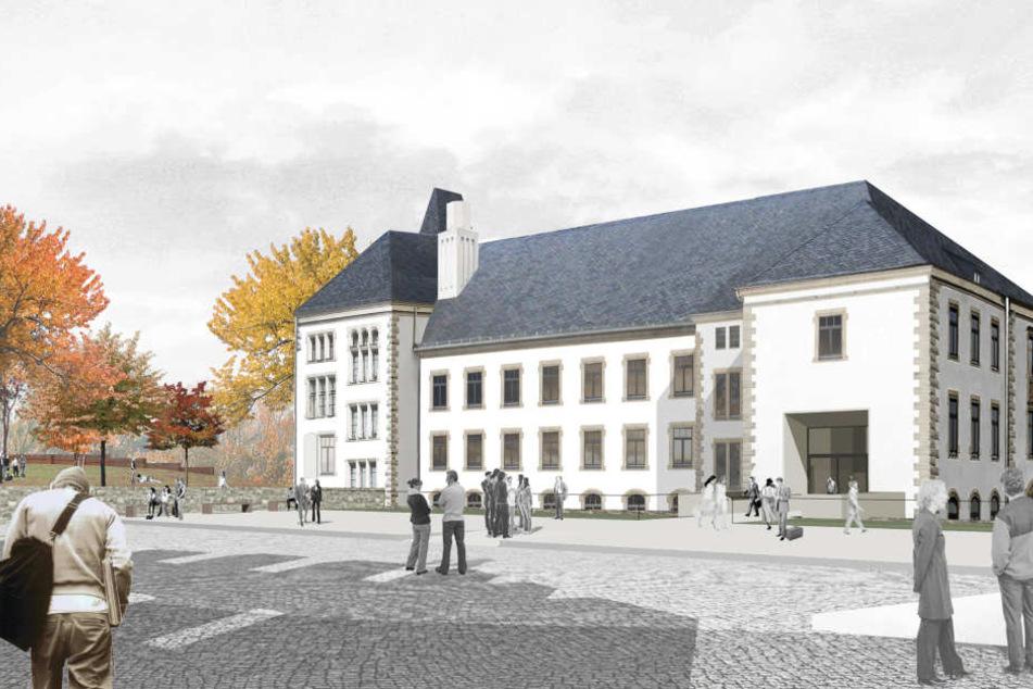 Das ehemalige Amtsgericht wird zum neuen Hauptgebäude des Campus umgebaut.