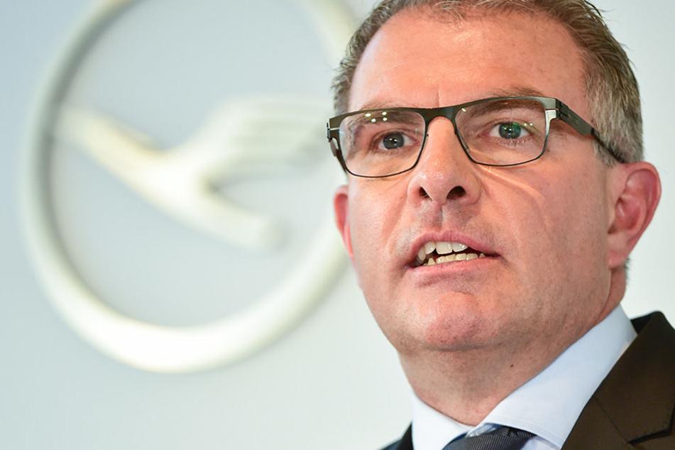 Carsten Spohr, Vorstandsvorsitzender der Deutschen Lufthansa AG, bei einer Pressekonferenz in Frankfurt am Main.