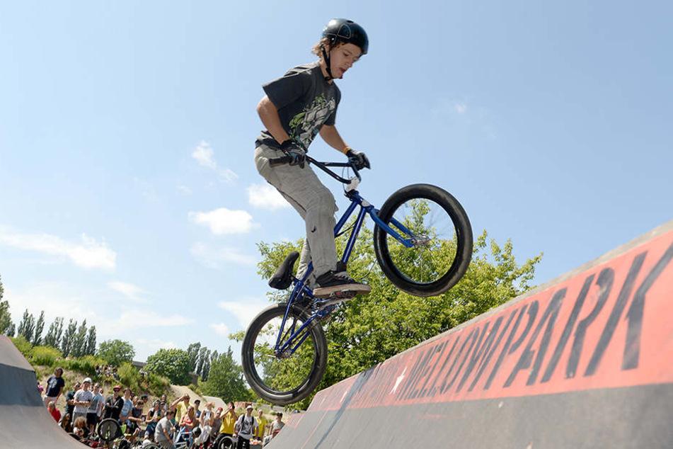 Beim jährlichen BMX-Event präsentieren Freizeitsportler aus ganz Deutschland ihre Künste im Mellowpark.