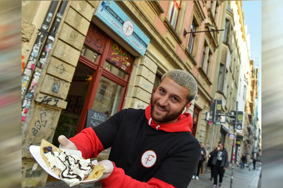 Der Dresdner macht alles selbst, füllt seine Crêpes mit herzhaften oder süßen Leckereien.