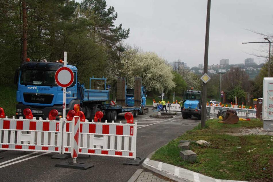 So sah die Baustelle Anfang April noch aus.