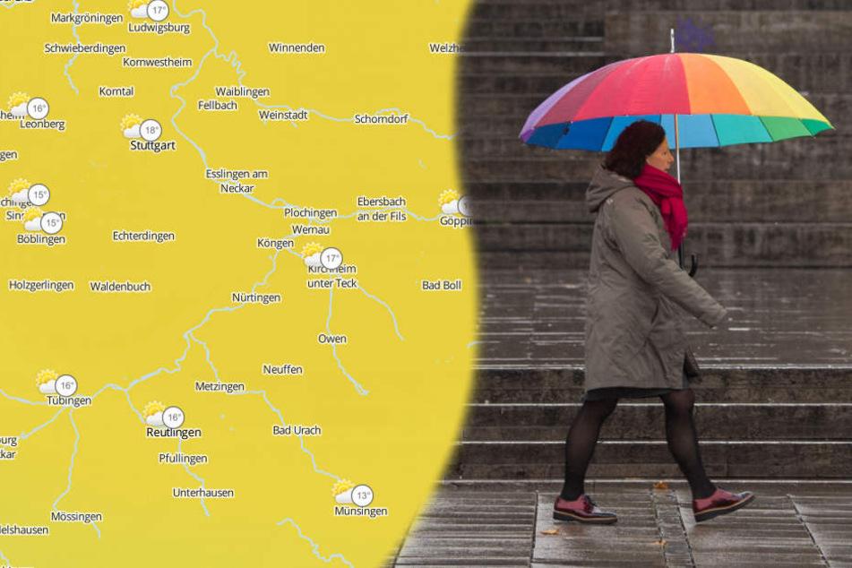 Ab Freitag schadet es nicht, den Regenschirm dabei zu haben. (Symbolbild/Fotomontage)