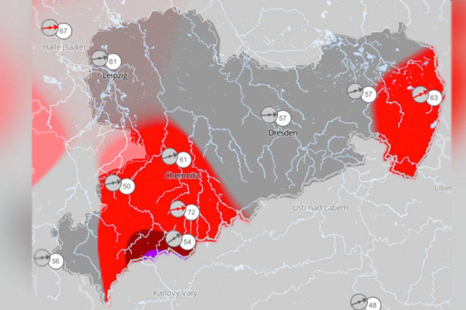 In einigen Teilen Sachsens wird es in den nächsten Tagen ungemütlich.