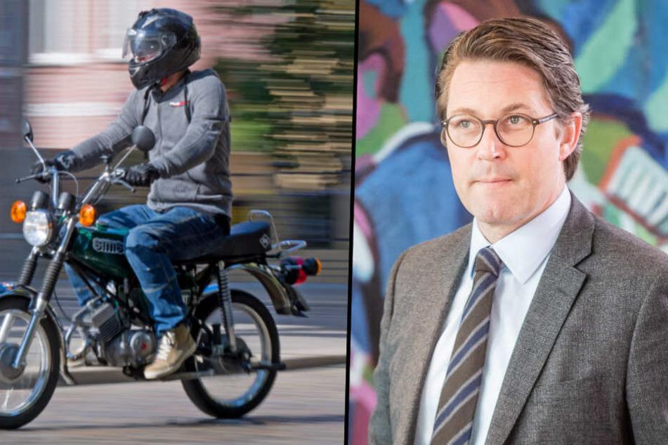 Verkehrsminister Scheuer will Altersgrenze für Moped-Führerschein senken!