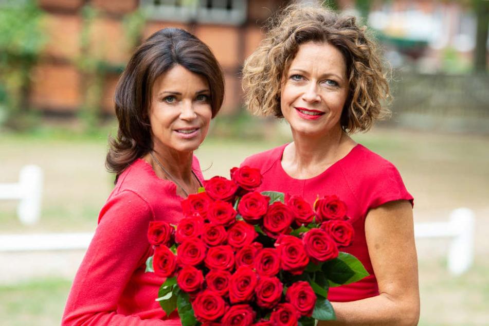 """Gerit Kling (links) wird in der nächsten Staffel Madeleine Niesche am Set von """"Rote Rosen"""" ablösen."""