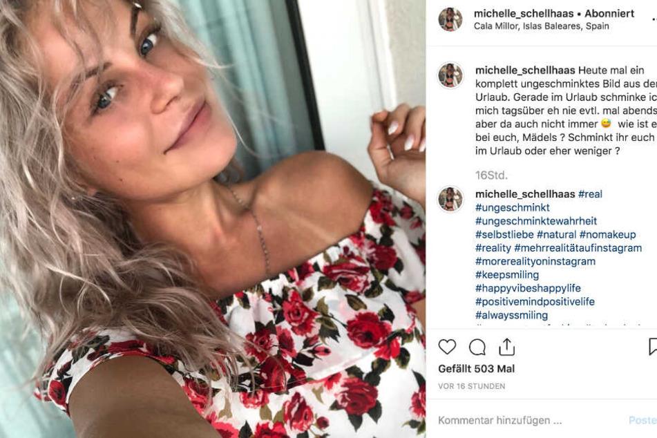 Dieser Screenshot zeigt den Instagram-Post von Michelle Schellhaas.