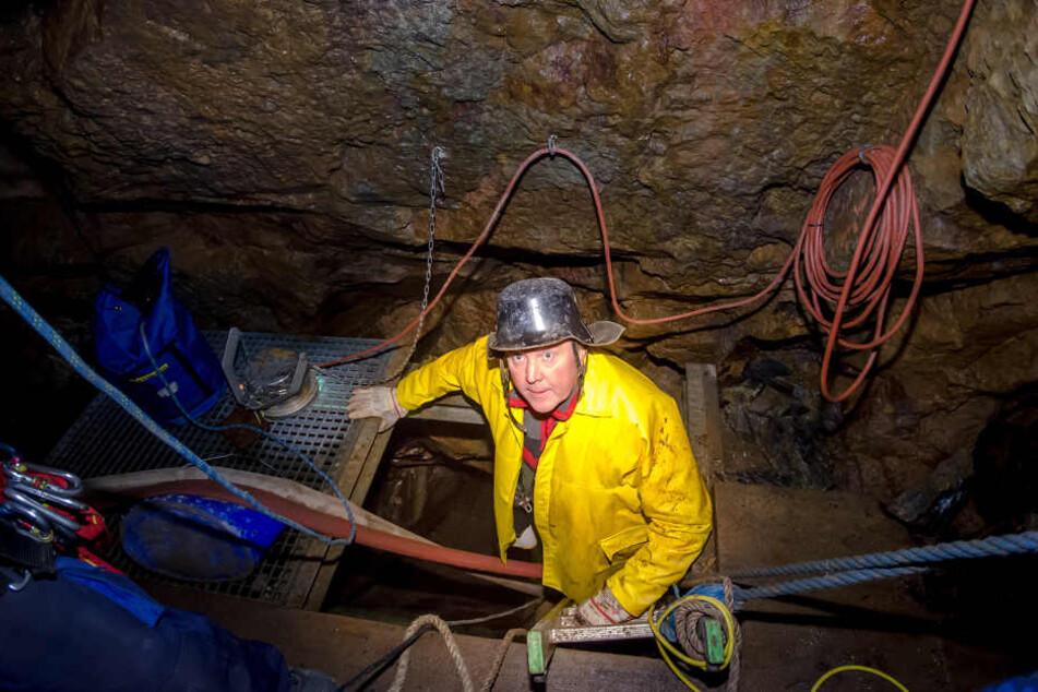 Heinz-Peter Haustein (62) treibt die Suche unter Tage unermüdlich voran.