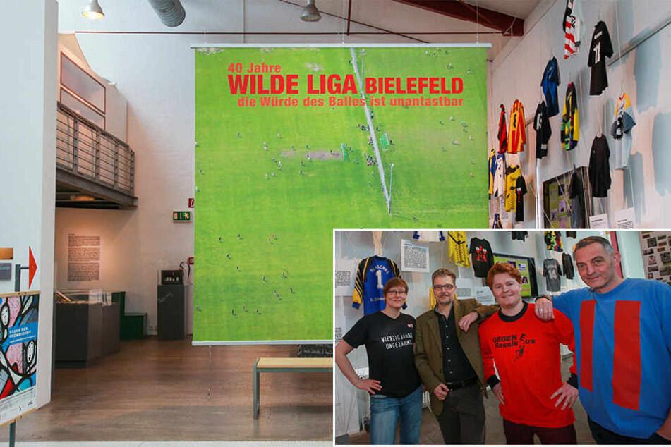 Präsentieren die Ausstellung: Ligachefin Beate Wolff, Museumsleiter Wilhelm Stratmann, Dokufilmer Max Meis und Kurator Michael Falkenstein (v.l.).