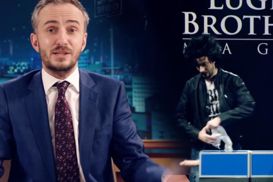 Jan Böhmermann zersägt erigierten Penis im TV!