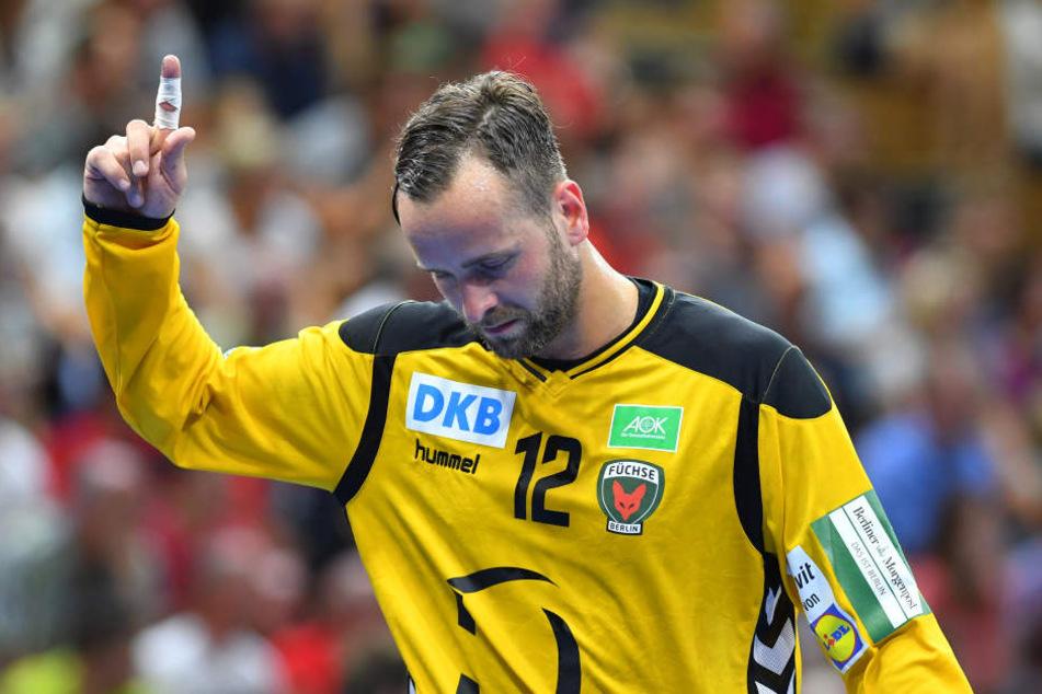 Füchse-Keeper Silvio Heinevetter machte einen super Job - zum Ärgernis der Dresdner.