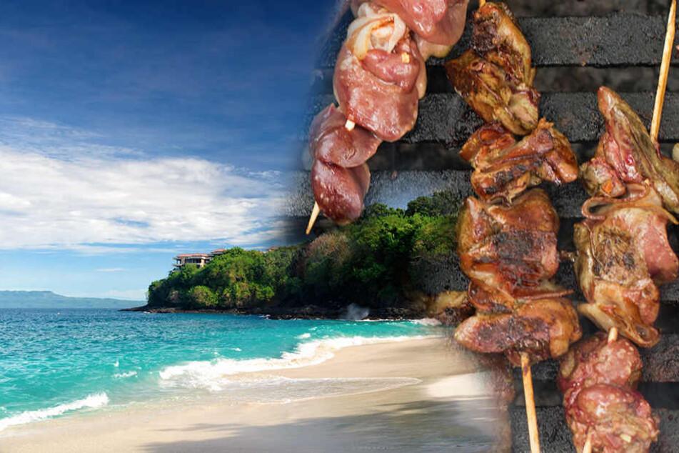 Auf Bali solltet Ihr besser keine Hähnchen-Sate-Spieße essen. Oft bestehen diese aus Hundefleisch.