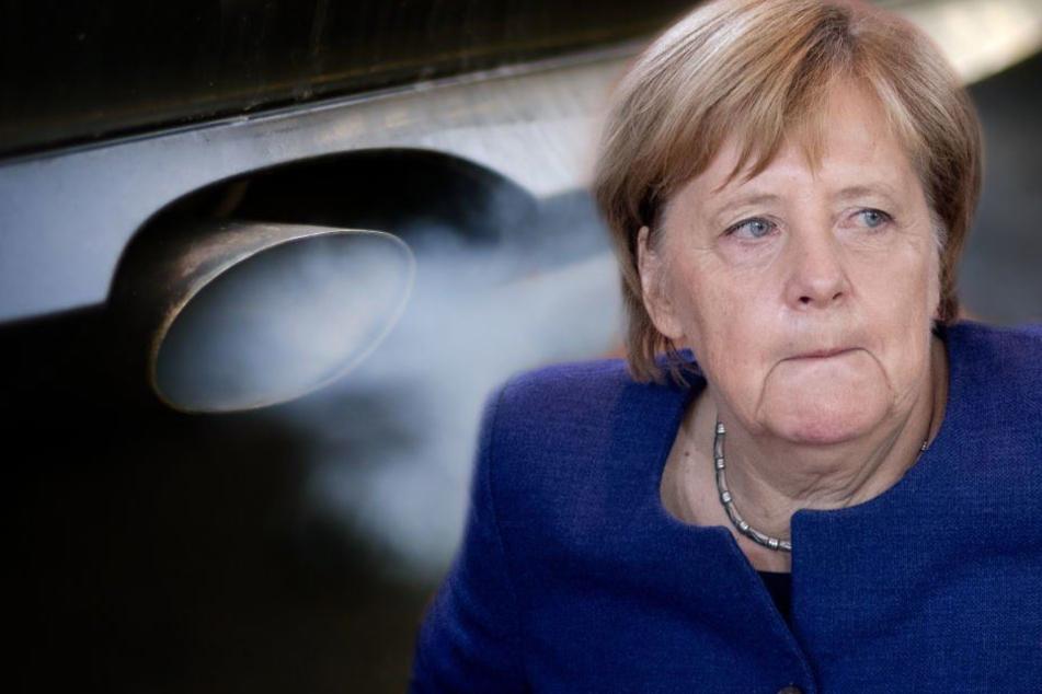 Kanzlerin Angela Merkel (64, CDU) will Fahrverbote per Gesetz erschweren. (Bildmontage)