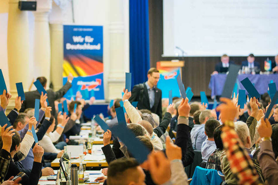 Hier stimmen Abgeordnete auf dem Landesparteitag der Alternative für Deutschland in Weinböhla ab (Symbolbild).