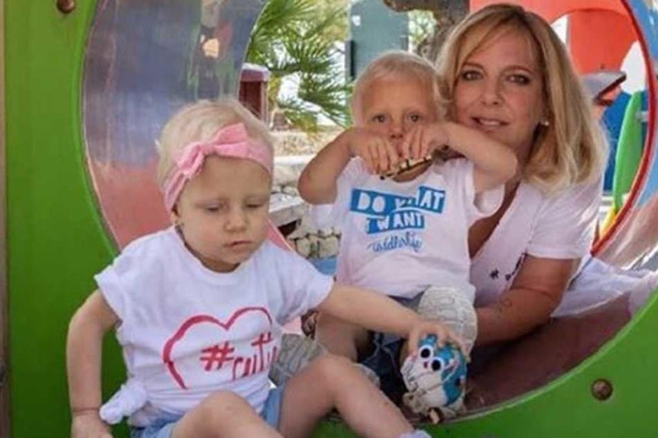 Dani Büchner (40) muss die Zwillinge Jenna und Diego (2) alleine groß ziehen.