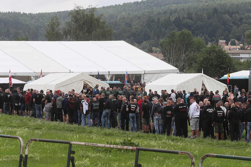 Zum letzten Neonazi-Konzert vor zwei Wochen kamen rund 6000 Teilnehmer nach Themar.