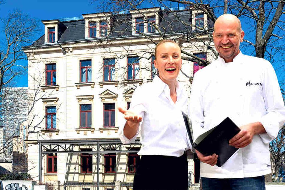 """Gourmetkoch Dieter Maiwert (59) und seine Lebensgefährtin Madeleine Maaßen (41) zogen erst 2017 in die """"Villa Herzog"""". Nun suchen sie ein größeres Lokal."""