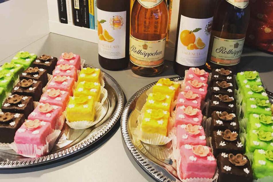 Ein kulinarischer Gaumenschmauß durfte für die neuen Kollegen der 40-Jährigen am ersten Arbeitstag auch nicht fehlen.