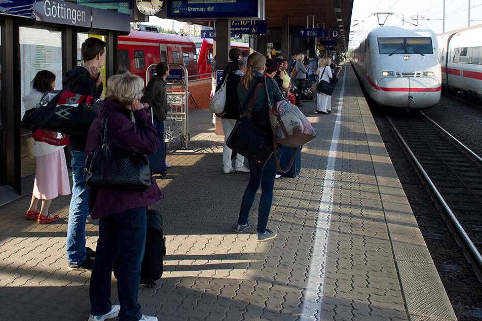 Inzwischen fahren die Züge aber wieder ab Göttingen.