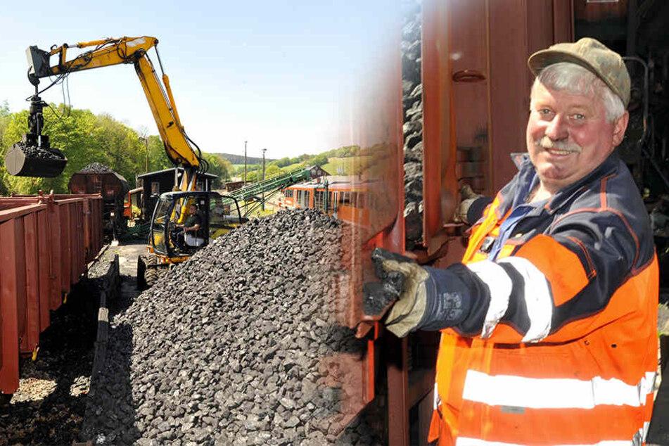 Futter für die Fichtelbergbahn: 240 Tonnen Steinkohle rollen ins Erzgebirge