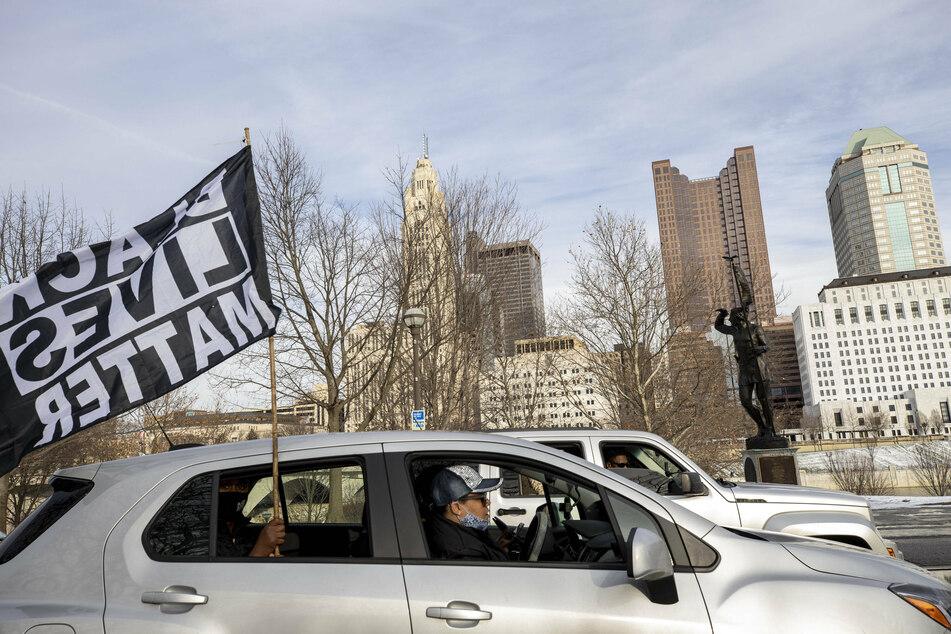 Advocates against police brutality met up at Genoa Park in Columbus to form a Black Lives Matter car caravan.