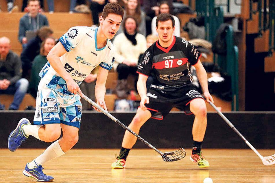 Die Chemnitzer Floor Fighters spielen erfolgreich in der Bundesliga - und wollen jetzt ein Maskottchen.