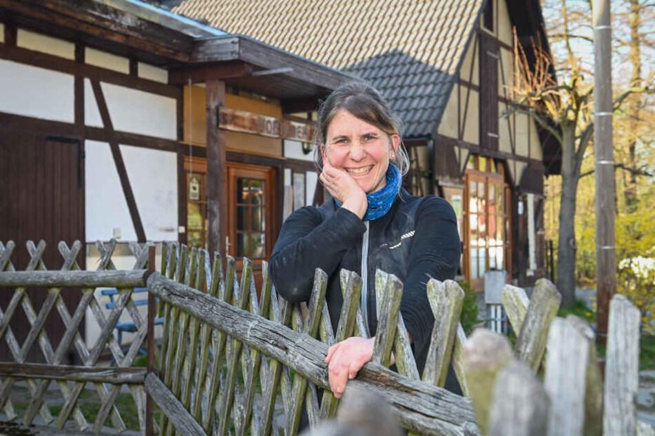 Ihre Lämmer sieht Manja Drutschmann (36) als Teil der Landschaftspflege.