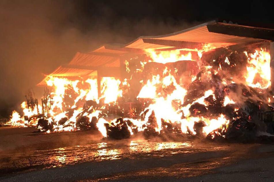 Die Heu brannte wie Zunder, die ganze Scheune stand in Flammen.