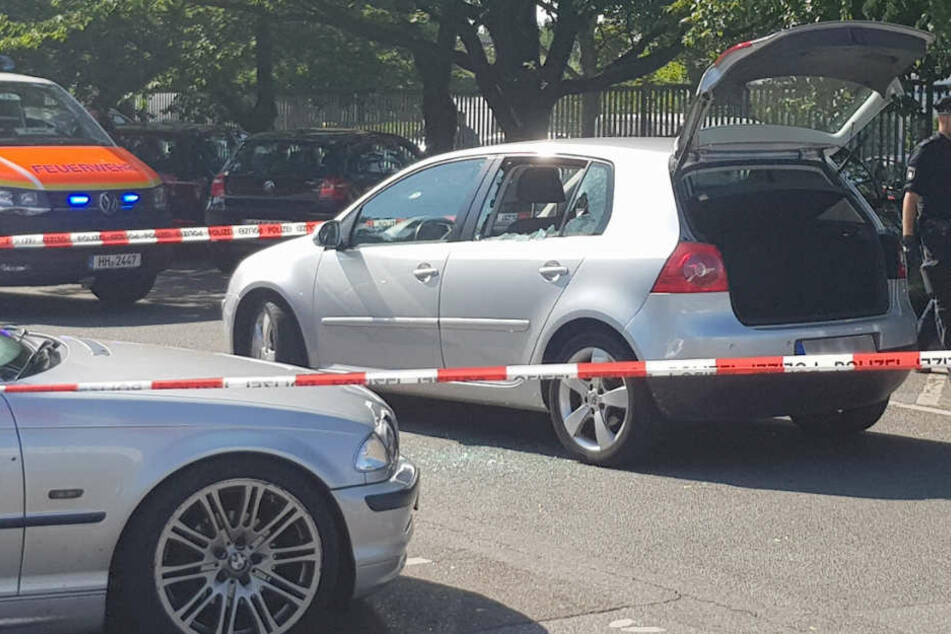 An diesem Fahrzeug wurde der 26-Jährige erschossen.