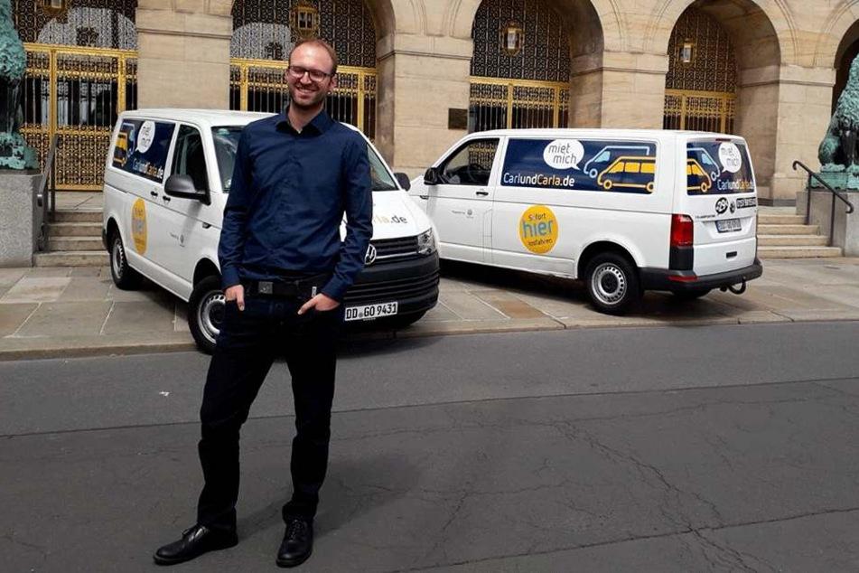 """CarlundCarla-Mitgründer Richard Vetter (31) teilte sich in seiner WG einen alten VW-Bus namens """"Charlie"""". Das war der Anfang ..."""