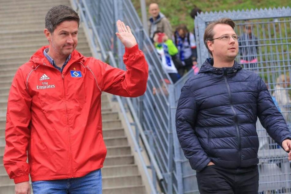 HSV-Kaderplaner Johannes Spors (r) soll bald nicht mehr Mitglied der Scouting-Abteilung sein.
