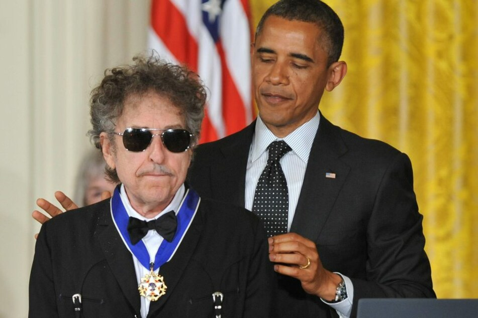 2012 zeichnete Barack Obama Bob Dylan mit der Presidantial Medal of Freedom aus.