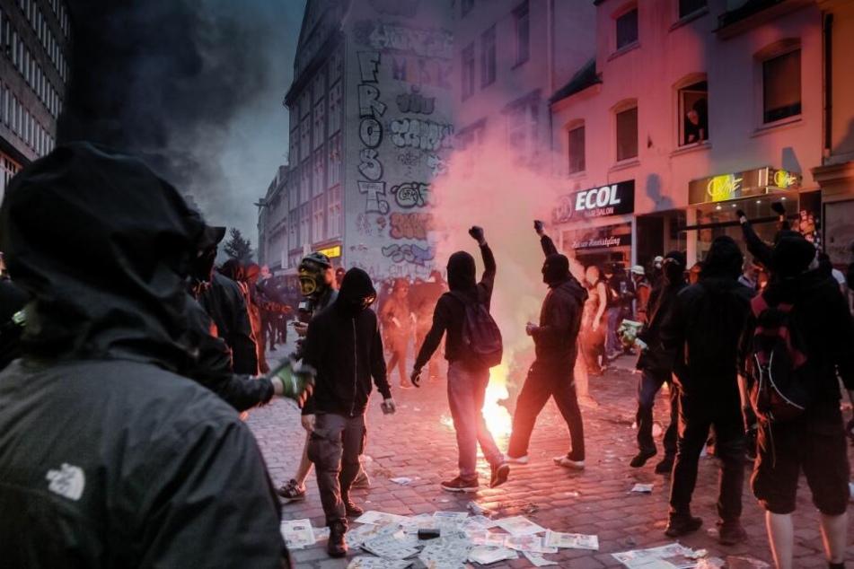 Tausende randalierten beim G20-Gipfel im Hamburg.