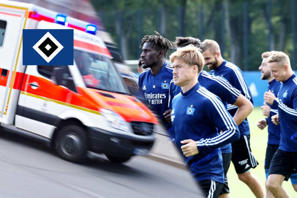 Schock beim HSV: Spieler fällt monatelang mit Wadenbeinbruch aus