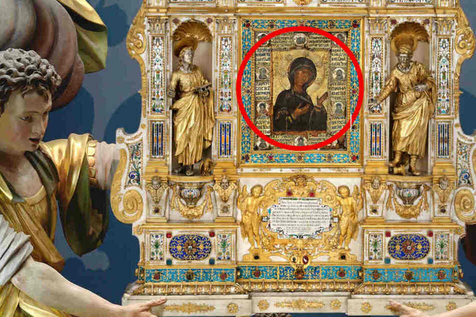 Der Evangelist Lukas selbst soll dieses Bild gemalt haben!