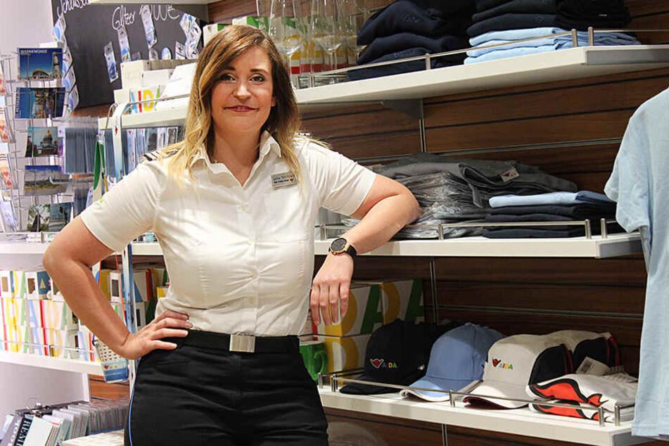 """Zuständig für Spa und Shops: Luisa Strohbach (30) aus Heidenau will noch lange zur See fahren: """"Kontakt nach Hause halte ich übers Internet."""""""