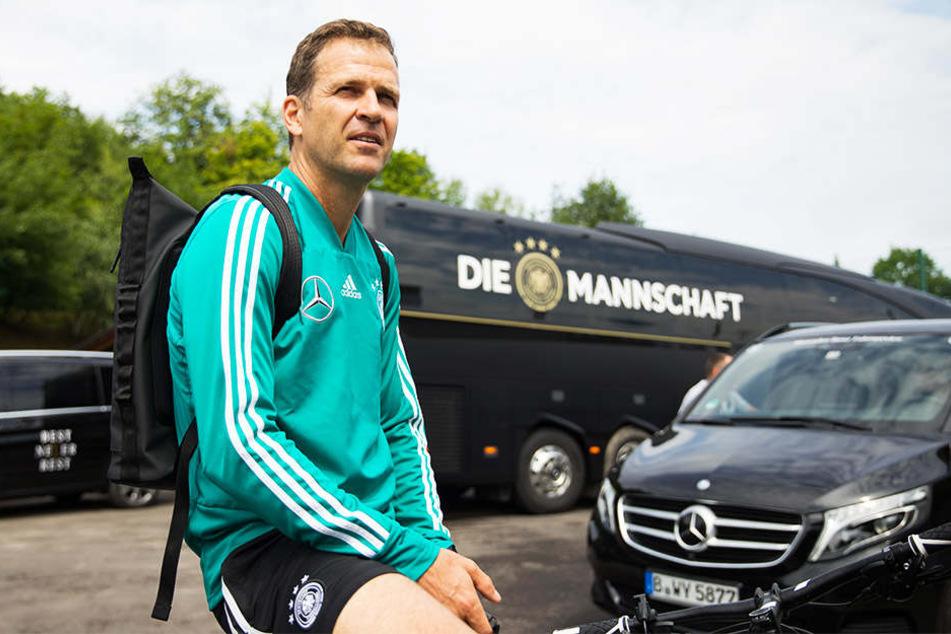 Im Trainingslager wirkte DFB-Manager Oliver Bierhoff eigentlich entspannt.