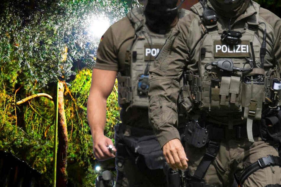 Eine Spezialeinheit der Polizei rückte an, um die Verdächtigen festzunehmen (Symbolbild).
