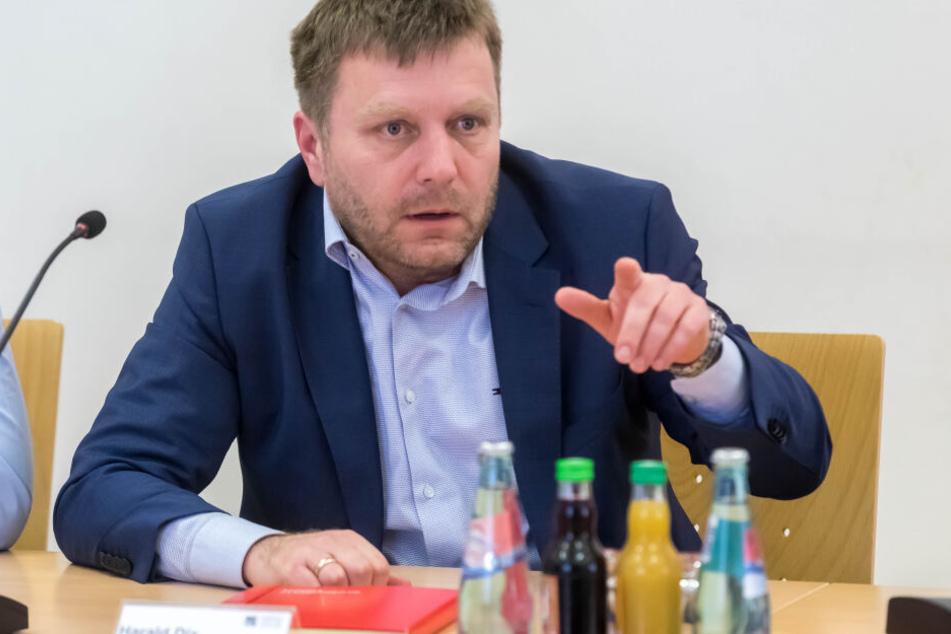 Er baut die Gleise und Bahnbrücken in Chemnitz um: Bahn-Projektleiter Harald Dix (49).