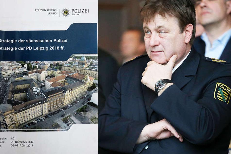 Ein nachdenklicher Leipziger Polizeipräsident Bernd Merbitz (61) - seine Strategen prognostizieren einen jährlichen Kriminalitätsanstieg um bis zu 5 000 Straftaten.