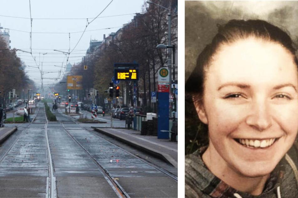 Yolanda (23) verließ am 25. September ihre WG in der Körnerstraße. Fährtenhunde führten die Beamten zur nahegelegenen Haltestelle Südplatz (l.). Hier verlor sich die Spur.