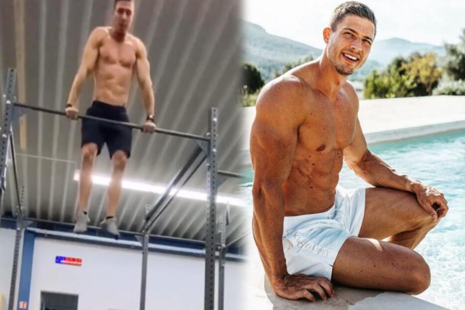 Der Stuttgarter Crossfit-Athlet Julius Ise (links: bei einem seiner heftigen Workouts) ermutigt seine Fans, sich auch mal Momente nur für sich selbst zu nehmen. (Fotomontage)