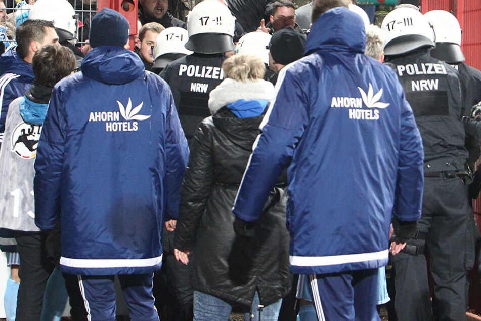 Beim Spiel in Münster am 2. Dezember kam es zu Rangeleien.