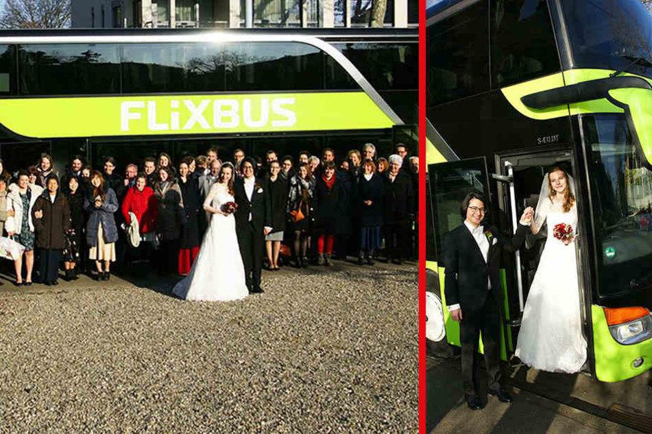 Romantisch? Paar feiert seine Hochzeit im Flixbus