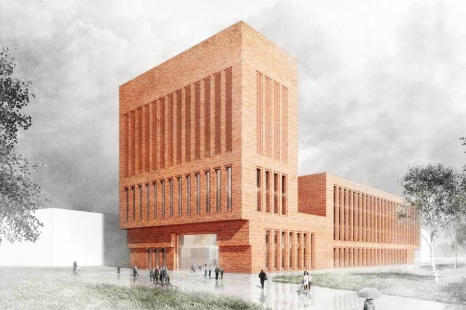 So soll die neue Bibliothek der Bergakademie aussehen. Eingegliedert wird ein Hörsaalzentrum.