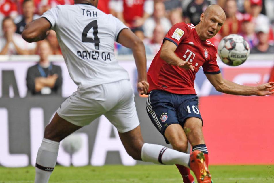 Arjen Robben und der FC Bayern München konnten gegen Bayer 04 Leverkusen den nächsten Sieg feiern.