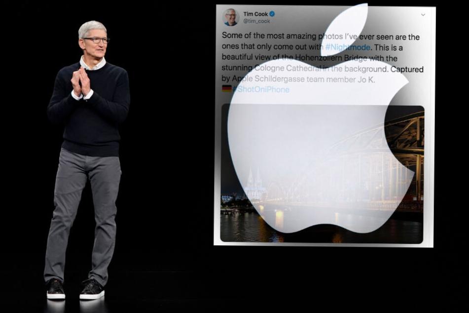 Apple-Chef twittert Foto aus Köln an 11,6 Millionen Menschen!