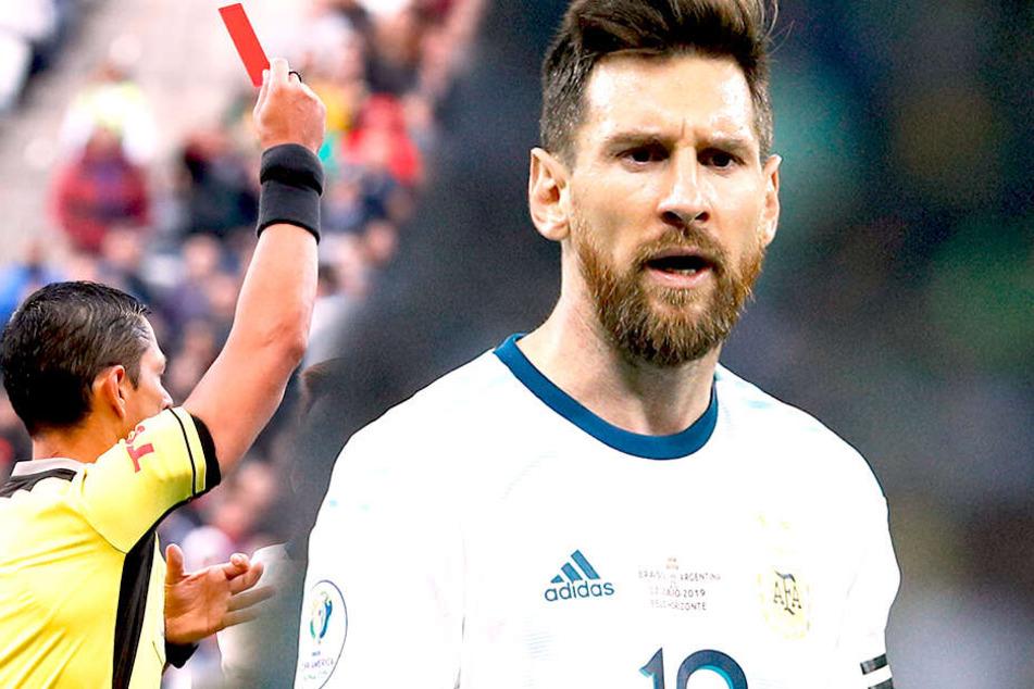 """Nächster Messi-Aussetzer: Rot und Medaillenboykott bei """"kleinem"""" Copa-Finale"""