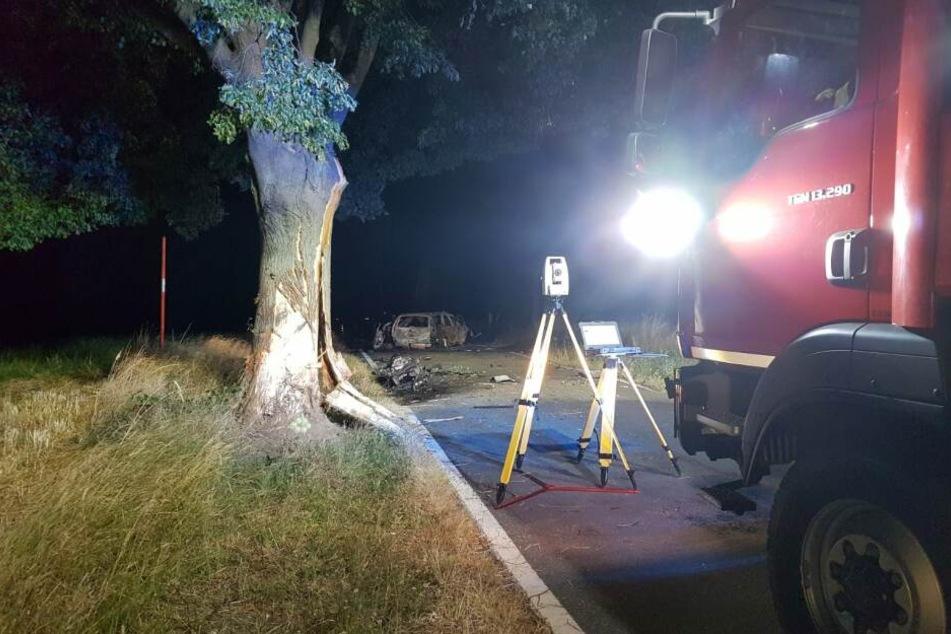 Ein 28-Jähriger ist bei einem schweren Unfall in Nordsachsen am Montagabend gestorben.